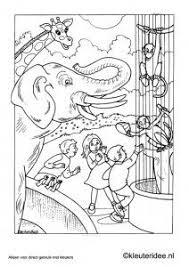 Kleurplaat Dierentuin Kleuteridee Nl Zoo Preschool Coloring