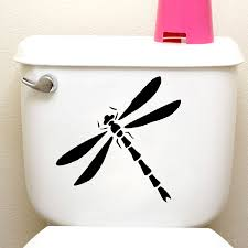 Dragonfly Silhouette Door Window Funny Stickers Toilet Vinyl Decals 4ws0094 Decals Game Decal Decor Removable Wall Artdecal Vinyl Aliexpress