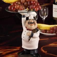 cook statue dinner plate decor resin