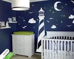 Vinyl Wall Decal Lighthouse Moon Stars Clouds Wall Decal Nursery Decor Kr054 Ebay