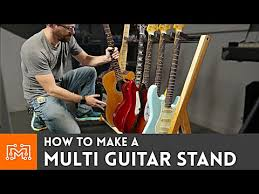 how to make a multi guitar stand you