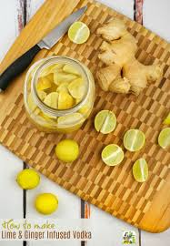 how to make ginger lime infused vodka