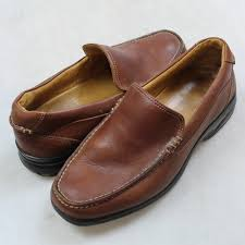 sperry top sider brown leather shoes sz
