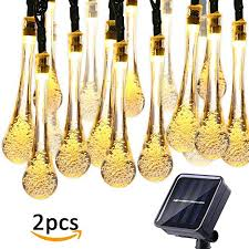 icicle solar string lights outdoor 19