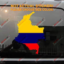 Flag Map Of Colombia Decal Sticker Car Vinyl Colombian Pick Size Color Die Cut No Background Car Stickers Aliexpress