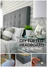 diy upholstered headboard with tufting