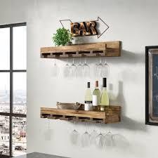 oconner wall mounted wine glass rack