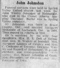 Obituary for John Wesley Johnston - Newspapers.com