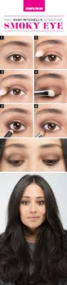 makeup looks for brown eyes step by