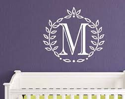 Items Similar To Initial Decal Quatrefoil Design Letter Wall Decal Frame Decals Decorative Letters For Wall Single Letter Monogram Vinyl Lettering On Etsy
