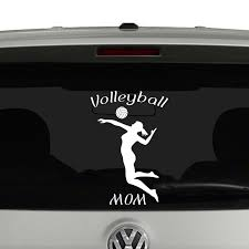 Volleyball Mom Silhouette Vinyl Decal Sticker