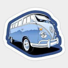 Vw Bus Stickers Teepublic