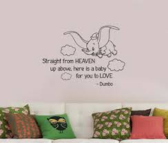 Disney Dumbo Quote Wall Sticker Cartoon Elephant Vinyl Decal Art Decor Dumb11 Ebay