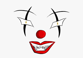 scary clown face png transpa png