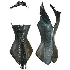 leather corset bustier top