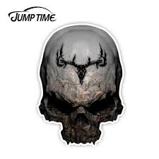 Jump Time 13cmx9 2cm Camouflage Skull Decal Archery Hunting Truck Bow Treestand Whitetail Sticker Window Decal Laptop Car Covers Car Stickers Aliexpress