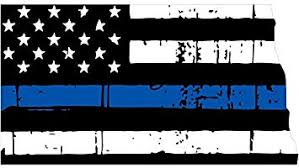 Amazon Com North Dakota Tattered Thin Blue Line Us Flag Honoring Our Men Women Of Law Enforcement Car Symbol Sticker Decal Die Cut Vinyl Window Computer Made And Shipped In Usa
