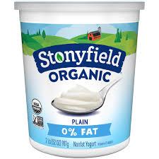 organic plain nonfat yogurt 32 oz tub