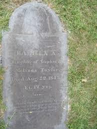 Barilla Adeline Taylor (1828-1845) - Find A Grave Memorial