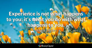 aldous huxley experience is not what happens to you