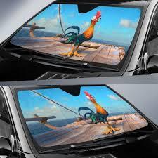 Moana Hei Hei Chicken Car Sun Shades 918b Gift Family Friends Fan Idea