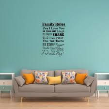 Family Rules Wall Decal Vwaq Com