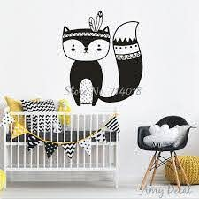 Tribal Fox Wall Decal Vinyl Sticker Woodland Fox Vinyl Wall Decals For Kids Room Nursery Decor Home Decors Vinyl Stickers A842 Vinyl Wall Decals Vinyl Stickersvinyl Wall Aliexpress