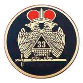 Masonic Car Emblem Decal Scottish Rite 33rd Degree Scottish Wings Down Red Crowned Bald Eagles With Black Background For Freemasons Masonic Car Emblems Bald Eagle Black Backgrounds