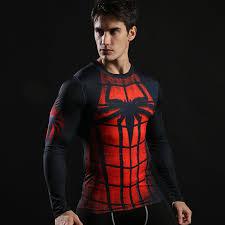 spider man super hero pression shirt
