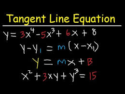 finding the tangent line equation with