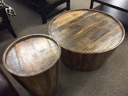drum coffee end tables furniture
