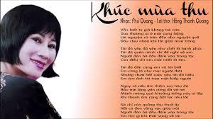 Khúc mùa thu - nhạc: Phú Quang; lời thơ: Hồng Thanh Quang - NSND Lê Dung -  YouTube
