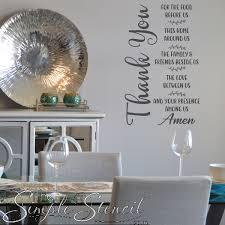 Gratitude Prayer Wall Decal Art For Dining Room Decor