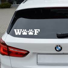 Wolf Text Paw White Set Of 2 Premium Waterproof Vinyl Decal Stickers For Laptop Phone Helmet Car Window Bumper Mug Tub Gifts For Pet Lovers Car Humor Car