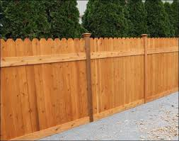 Custom Fencing Cedar Stain Fence Design Wood Fence Design