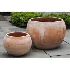 round large terra cotta plant pots