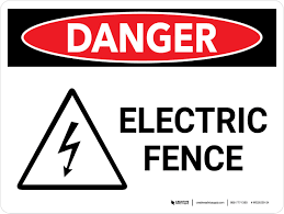 Danger Electric Fence Landscape With Icon Wall Sign Creative Safety Supply
