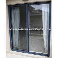 big glass aluminum glass sliding door