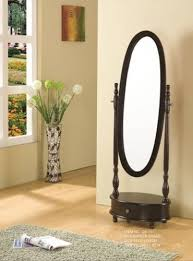 dressing mirror oval shaped stand
