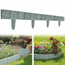 Landscaping Garden Materials 5m Hammer In Lawn Garden Edging Lawn Flowerbed Border Fence Patio Restaurantecarlini Com Br