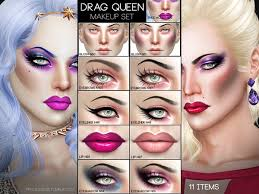 drag queen makeup set by pralinesims at