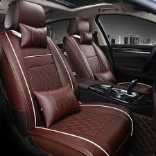 pu leather full set car seat cover