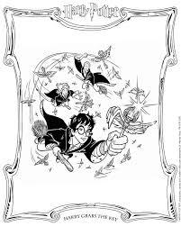 Print Harry Pakt De Sleutel Kleurplaat Kleurplaten Harry Potter