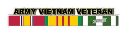 U S Army Vietnam Veteran Window Decal Strip
