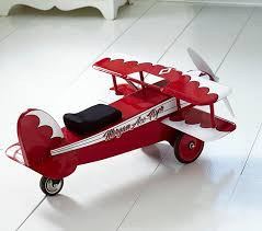 Red Airplane Ride On Toy Pottery Barn Kids