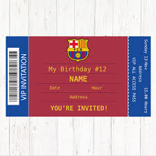 Barcelona Birthday Party Invitation Barcelona Invitation