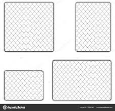 Realistic Metal Chain Link Fence Art Design Gate Prison Barrier Stock Vector C Roussanov 233495340