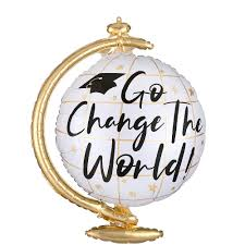 Go Change the World Globe Graduation Balloon, 23in