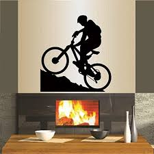 Amazon Com In Style Decals Wall Vinyl Decal Home Decor Art Sticker Mountain Biking Extreme Sports Bicycle Bike Man Boy Room Removable Stylish Mural Unique Design For Any Room 337 Home Kitchen