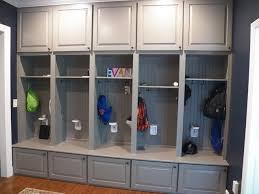 Custom Gray Mudroom Lockers For Busy Cincinnati Family American Traditional Kids Cincinnati By Transformations Custom Wood Design
